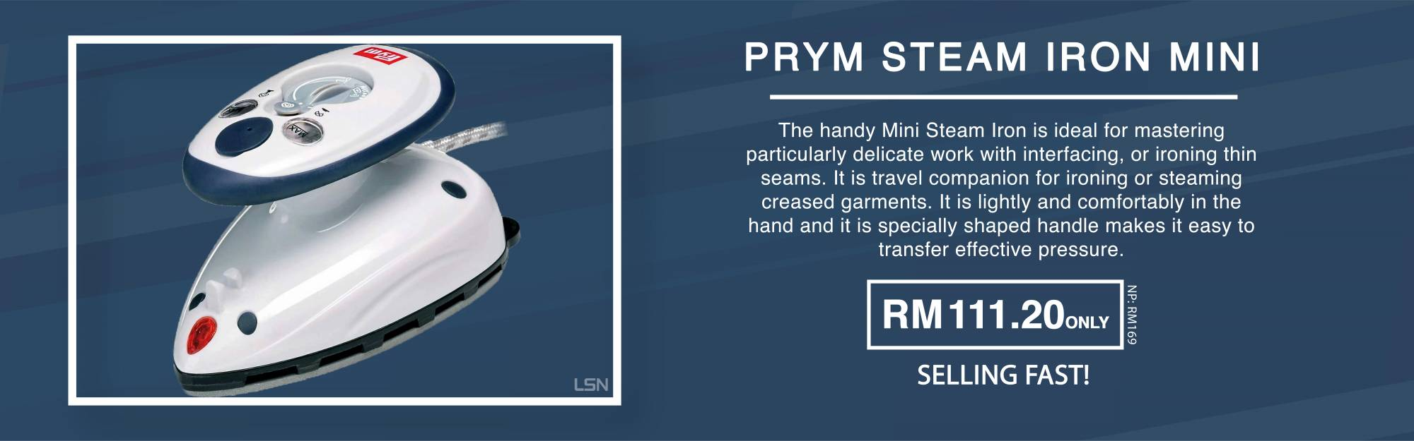 Prym Steam Iron Mini