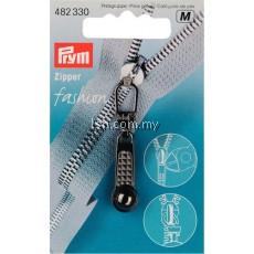 Zip puller Ball steel-coloured