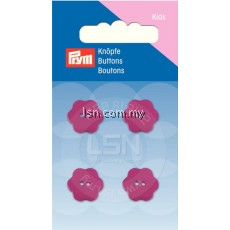Button 2-Hole Flower Pink 15 mm