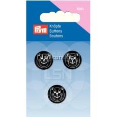 Button Eyelets Bear Black 15 mm