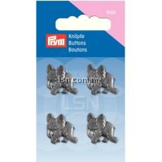 Button Eyelets Elephant grey 17 mm