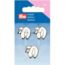 Button Eyelets Sheep White 18 mm