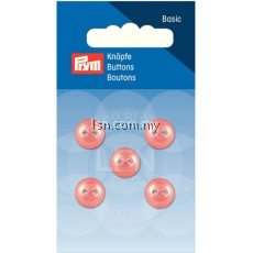 Button 2-Hole Hemisphere salmon 11 mm