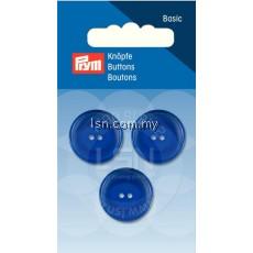 Button 2-Hole Standard Blue 20 mm