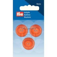 Button 2-Hole Standard Orange 20 mm