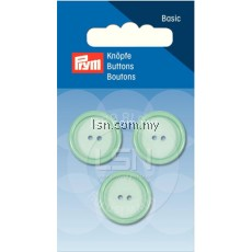 Button 2-Hole Standard Pastel Mint 20 mm