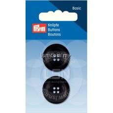 Button 4-Hole Standard Black 23 mm