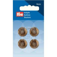 Button 4-Hole Suit/Trous. Beige/Brown 15 mm