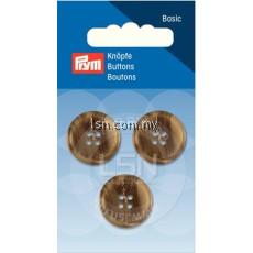 Button 4-Hole Suit/Trous. Beige/Brown 20 mm