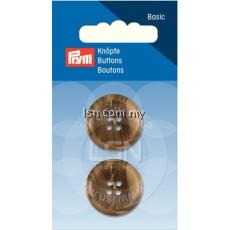 Button 4-Hole Suit/Trous.Beige/Brown 23 mm