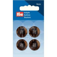Button 4-Hole Suit/Trous. Brown 18 mm