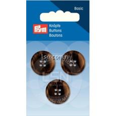 Button 4-Hole Suit/Trous. Brown 20 mm