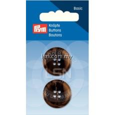 Button 4-Hole Suit/Trous. Brown 23 mm