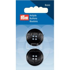 Button 4-Hole Suit/Trous. Black 23 mm