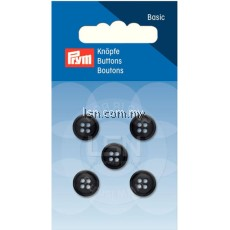 Button 4-Hole Shirts Black 11 mm