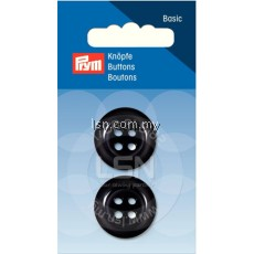 Button 4-Hole Coat Black 23 mm