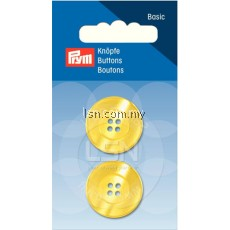 Button 4-Hole Standard Yellow 23 mm