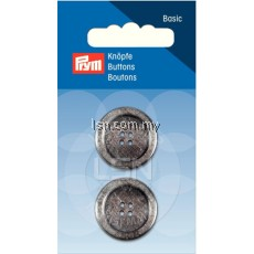 Button 4-Hole Standard Grey 23 mm