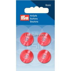 Button 4-Hole Standard Red 18 mm