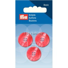 Button 4-Hole Standard Red 20 mm