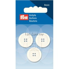 Button 4-Hole Standard White (2) 20 mm