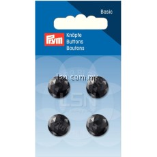 Button Eyelets Facet Black 13 mm