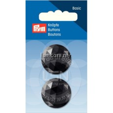 Button Eyelets Facet Black 25 mm