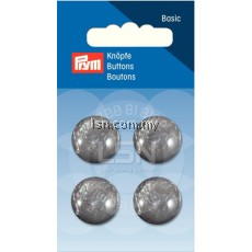 Button Eyelets Hemisphere Grey 18 mm