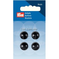 Button Eyelets Hemisphere Black 13 mm
