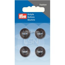 Button 2-Hole Metal D'Silver 15 mm