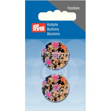 Button 2-Hole Flowers D'Blue 23 mm