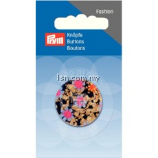 Button 2-Hole Flowers D'Blue 28 mm