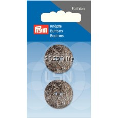 Button 2-Hole Glitter D'Grey 23 mm