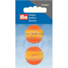 Button 2-Hole Jacket Orange/Yellow 25 mm