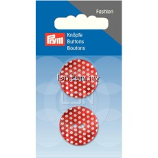 Button 2-Hole m-o-p Red/Light 23 mm