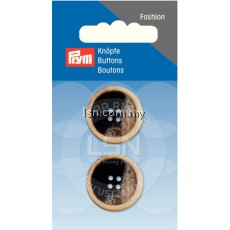 Button 4-Hole Jacket Black/Beige 23 mm