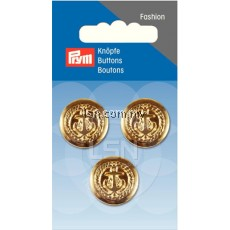 Button Eyelets Anchor Gold 20 mm