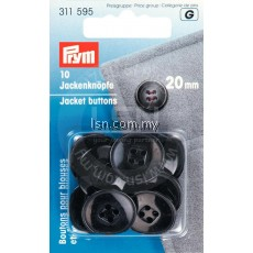 Jacket Buttons plastic black 20 mm