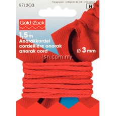 Anorak Cord 3 mm red