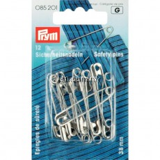 Safety Pins with coil No. 2 silver col 38 mm