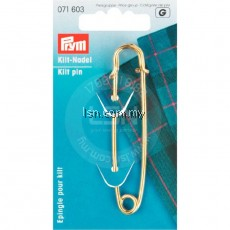 Kilt Pin brass 76 mm gold col lacquered