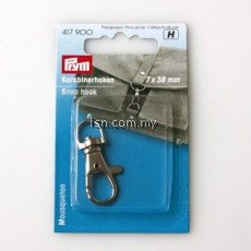 Snap hook 7 x 38 mm silver col