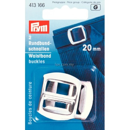 Waistband Buckles steel silver col 20 mm