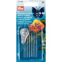 Tapestry + Chenille Needles assorted No. 18-22 silver col with threader