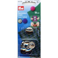 Cover Buttons brass silver col 19 mm without tool