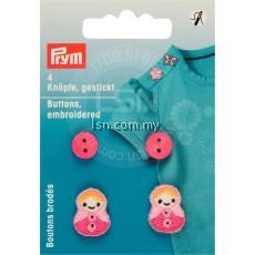 Button Embroidery Pink Babuschkas