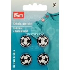 Button Embroidered Black / White Footballs