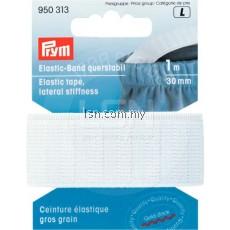 Prym Elastic Tape Lateral Stiffness, 30mm White