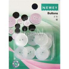 Buttons Transparent (18mm) 2 holes