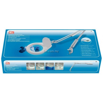 Prym Magnifying Glass with Lamp + Clamp